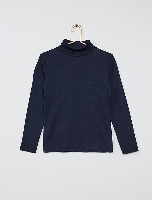 Camiseta de cuello vuelto                                                                             azul