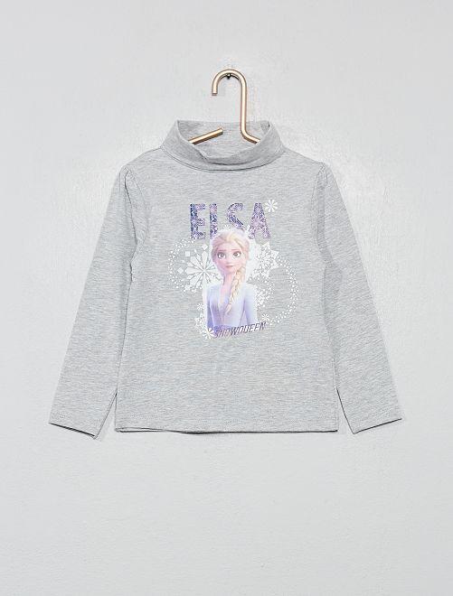 Camiseta de cuello vuelto con lunares 'Minnie'                                         GRIS