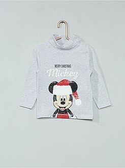 Camiseta de cuello vuelto de Navidad 'Mickey' - Kiabi