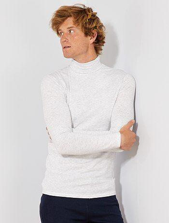 Camiseta de cuello vuelto de punto elástico - Kiabi 71e0030a918f