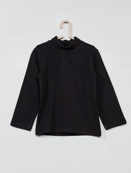 Camiseta de cuello vuelto                                         negro Bebé niño