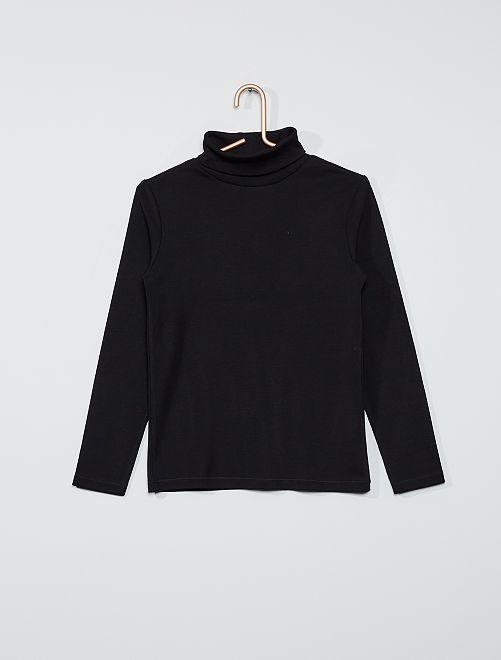 Camiseta de cuello vuelto                                                                             negro