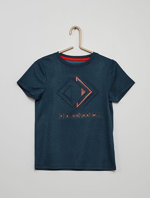 Camiseta de deporte de malla                                         AZUL