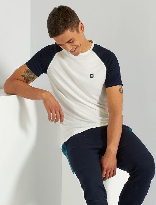 Camiseta de deporte de malla                                         blanco nieve