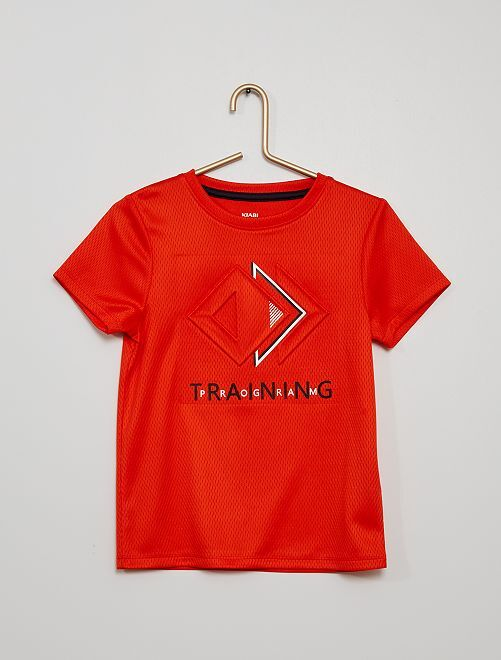 Camiseta de deporte de malla                                         NARANJA