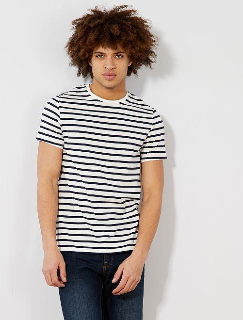 Camiseta de estilo marinero                                         AZUL