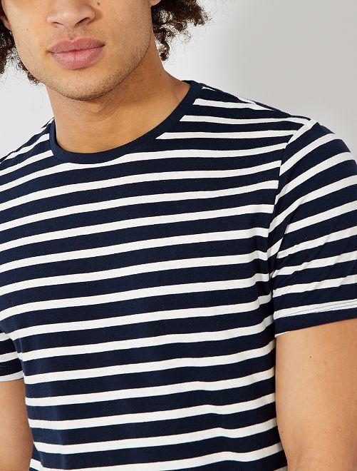 Camiseta de estilo marinero                                                                 AZUL Hombre