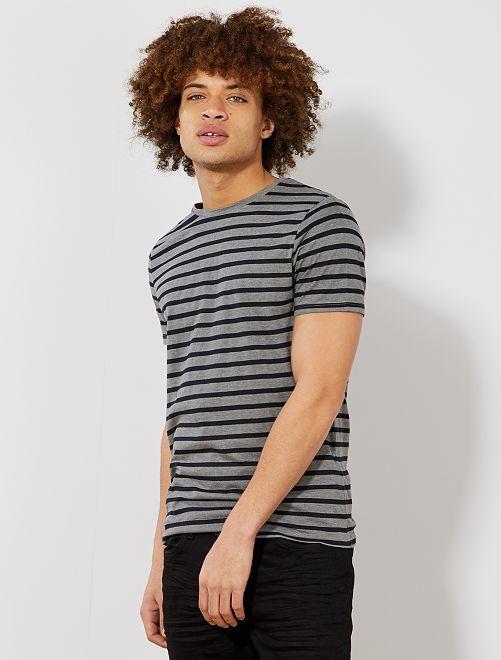 Camiseta de estilo marinero                                                                                         GRIS