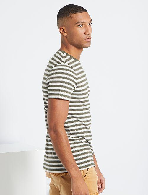 Camiseta de estilo marinero                                                     KAKI