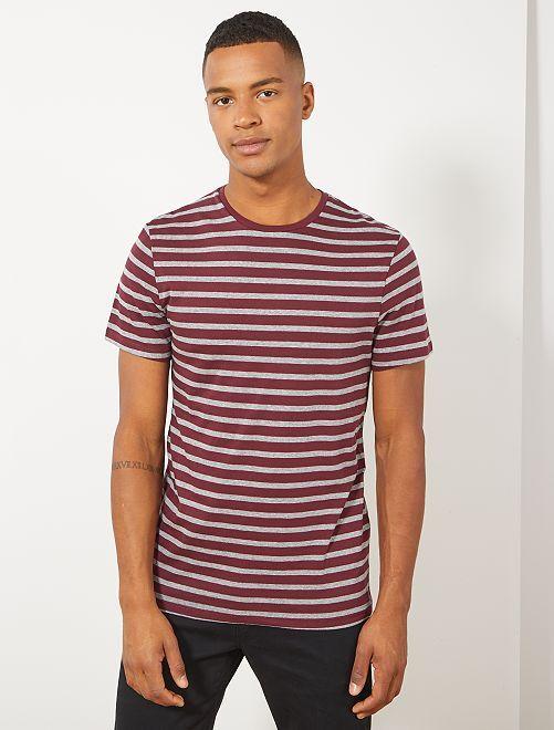 Camiseta de estilo marinero                                         ROJO