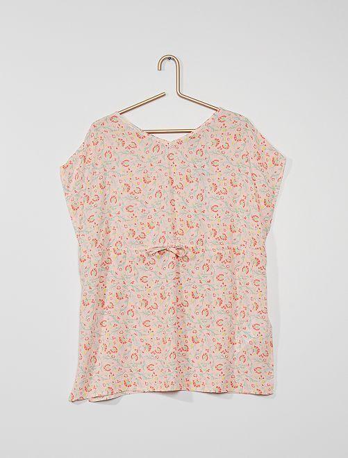 Camiseta de gasa de algodón                             ROSA