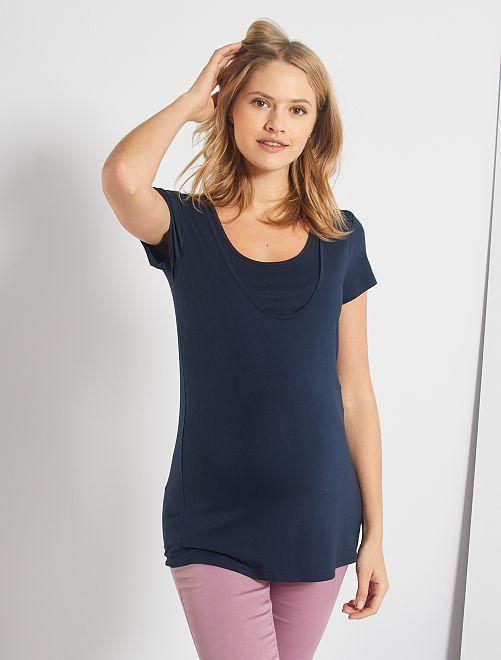 Camiseta de lactancia 2 en 1                                                                 azul