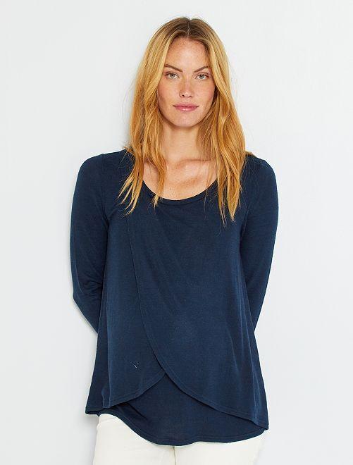 Camiseta de lactancia                                             azul