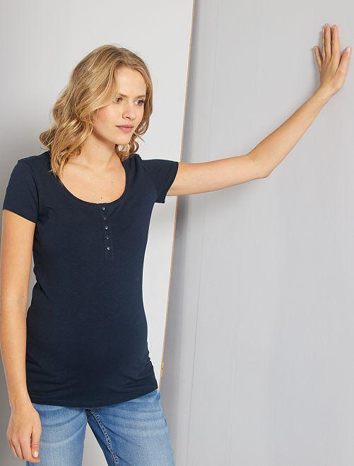Camiseta de lactancia 'eco-concepción'                                         azul