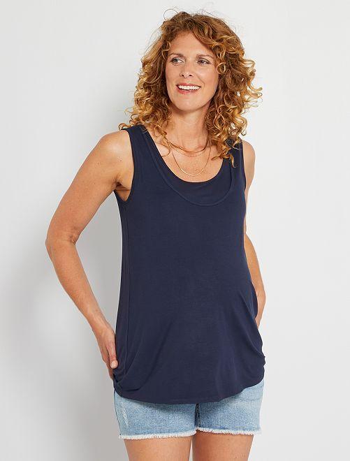 Camiseta de lactancia sin mangas                                         azul
