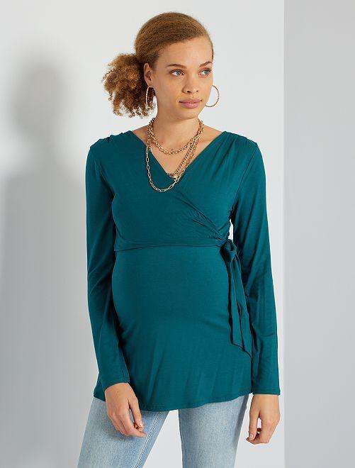 Camiseta de lactancia                                                                 verde profundo