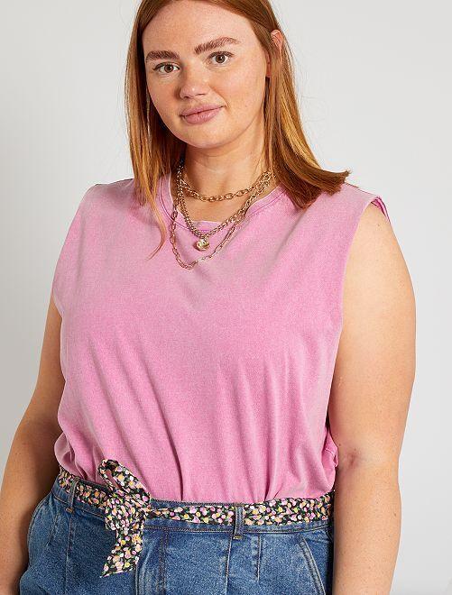 Camiseta de manga ancha                                         violeta rosa