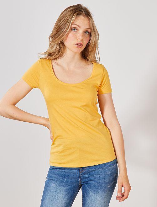 Camiseta de manga corta                                                                                                                 AMARILLO Mujer talla 34 a 48