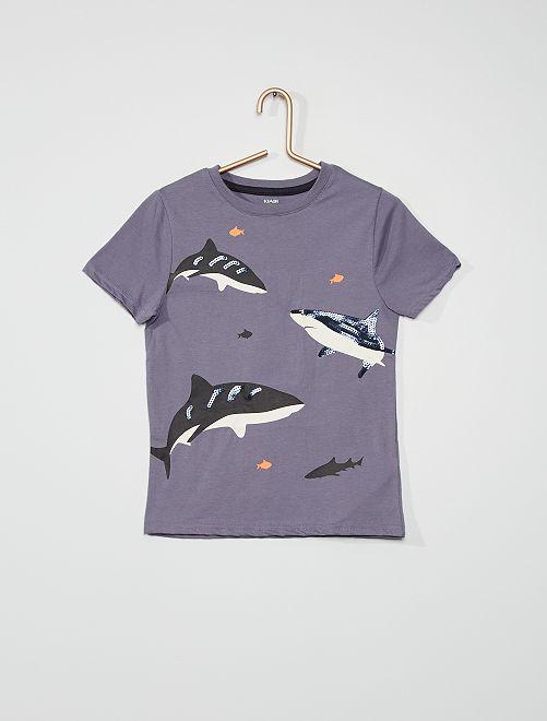 Camiseta de manga corta                                                                             AZUL