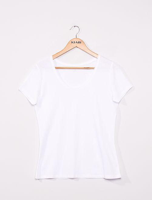 Camiseta de manga corta                                                                                                                             blanco