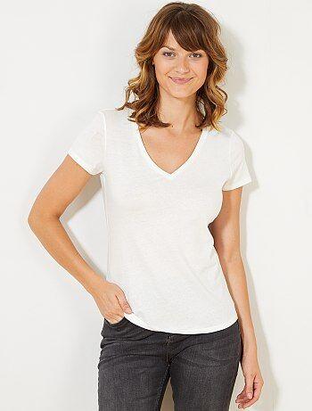 0e184270185c camisetas mujer manga corta - moda Mujer talla 34 a 48 | Kiabi