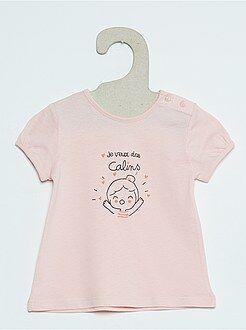 Camisetas manga corta - Camiseta de manga corta con estampado fantasía