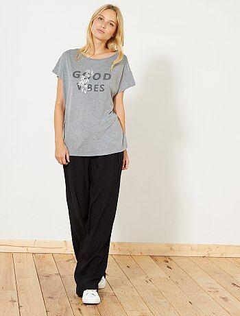 Camiseta de manga corta - Kiabi