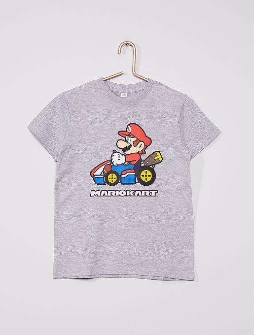 Camiseta de manga corta 'Mario Kart' 'Nintendo'                             gris