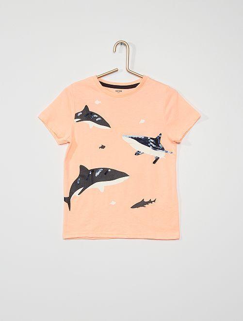 Camiseta de manga corta                                                                             NARANJA