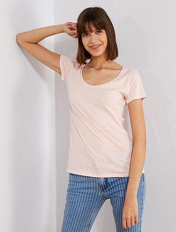281e43688a53 Camisetas manga corta Mujer talla 34 a 48 | rosa | Kiabi