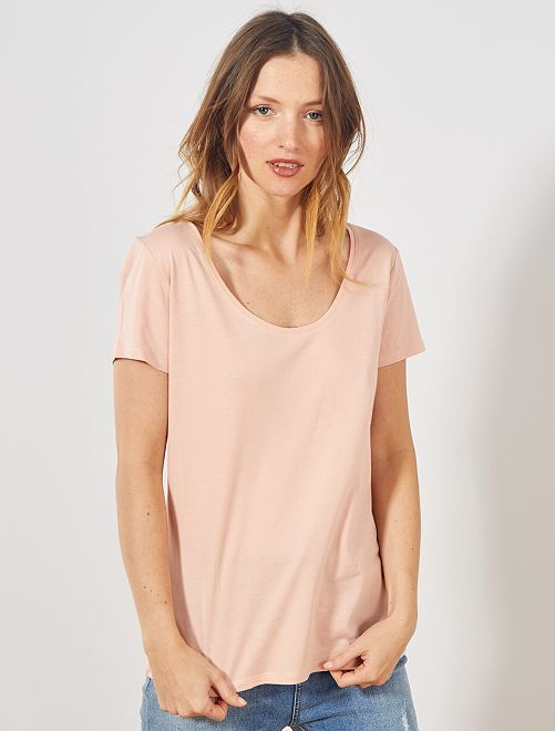 Camiseta de manga corta                                                                                                                                         ROSA