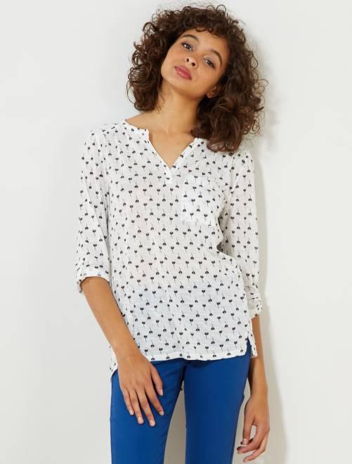 Camiseta de manga larga                                                     BLANCO Mujer talla 34 a 48