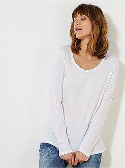 Camisetas - Camiseta de manga larga