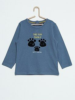 Camisetas - Camiseta de manga larga con estampado de fantasía