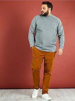 Tallas grandes hombre Camiseta de manga larga de felpa
