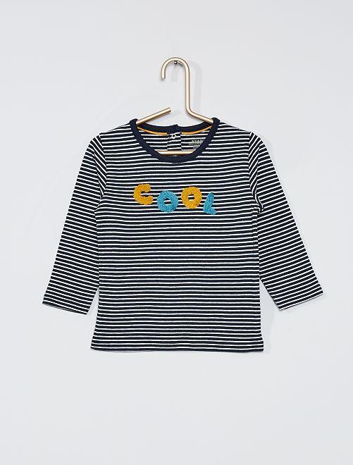 Camiseta de manga larga eco-concepción                                                     AZUL