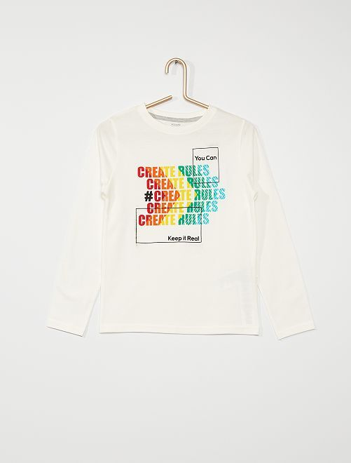 Camiseta de manga larga eco-concepción                                                                             BEIGE