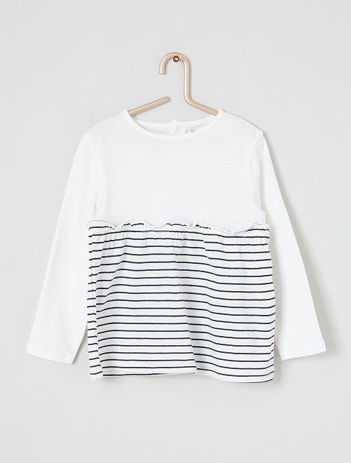 Camiseta de manga larga 'eco-concepción'                                                                                                                 BLANCO