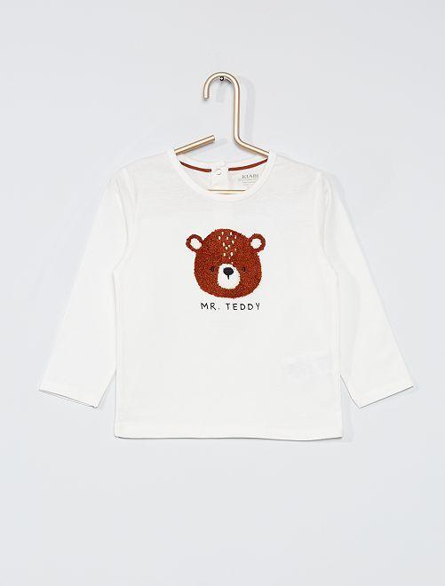 Camiseta de manga larga eco-concepción                                                                 BLANCO
