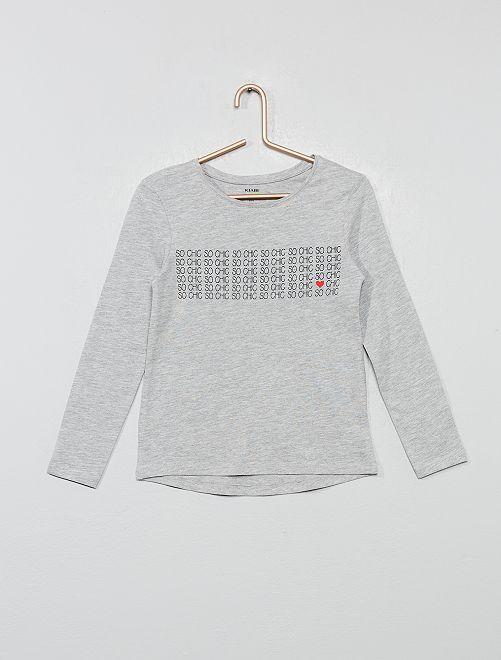 Camiseta de manga larga 'eco-concepción'                             GRIS