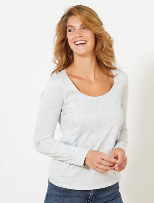 Camiseta de manga larga                                                                                         GRIS Mujer talla 34 a 48