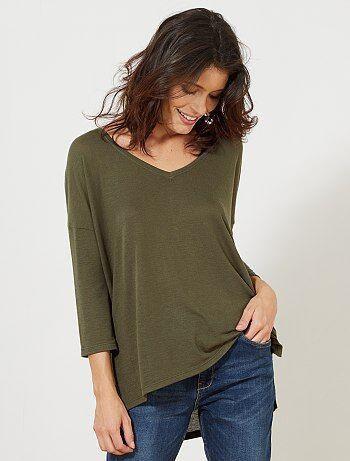 Mujer Kiabi Camisetas Caqui Camisetas Mujer Kiabi Camisetas Caqui Mujer Caqui OXBRq4z