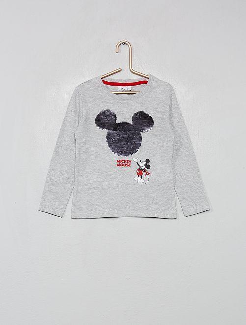 Camiseta de manga larga 'Mickey' con lentejuelas reversibles                                         mickey