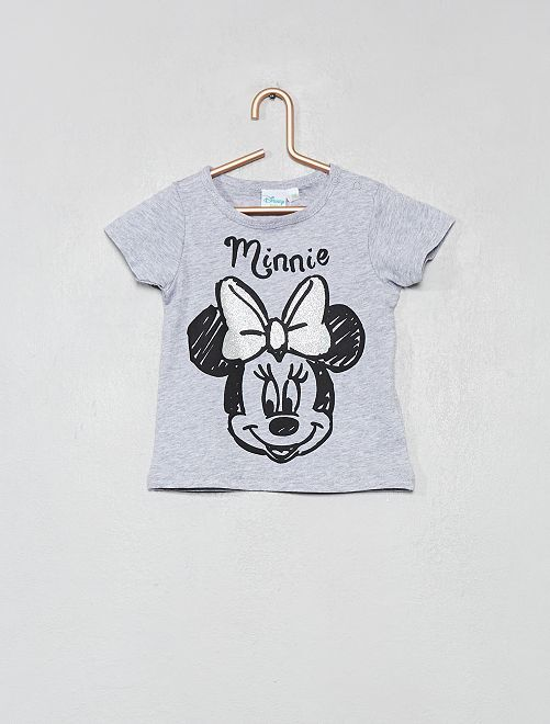 Camiseta de 'Minnie' brillante                                         gris chiné Bebé niña