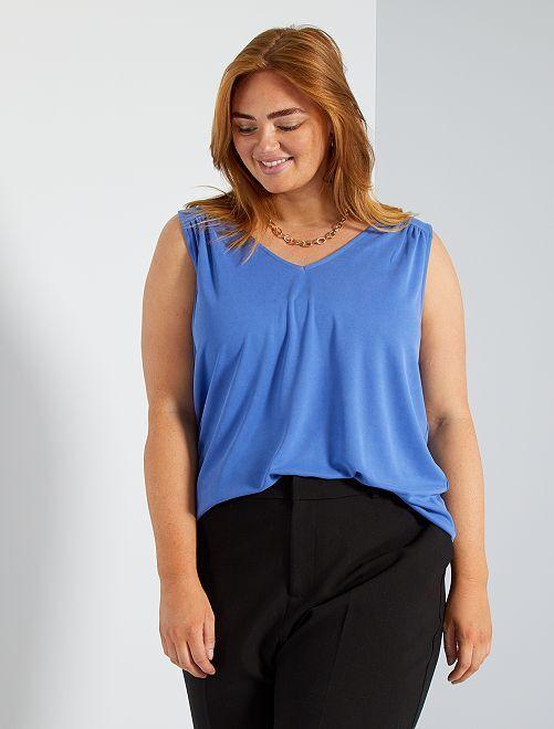 Camiseta de modal                                                                                                                                                     azul