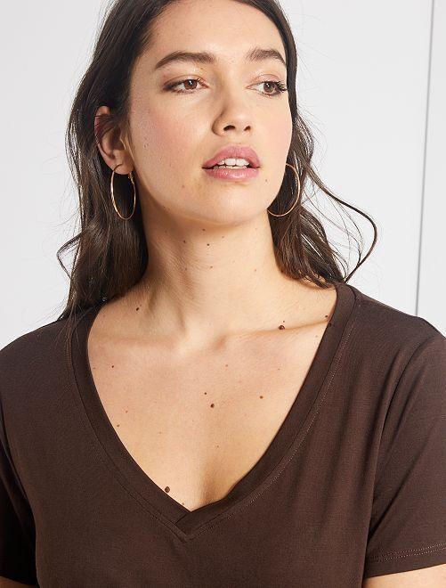 Camiseta de modal                                         marrón cafe