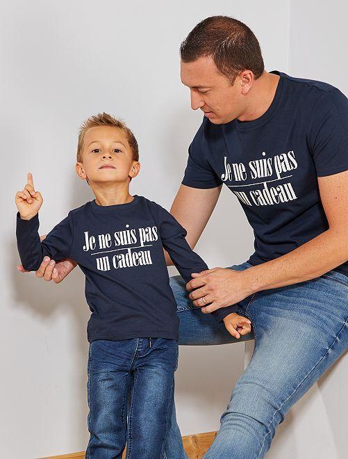 Camiseta de Navidad                                 AZUL