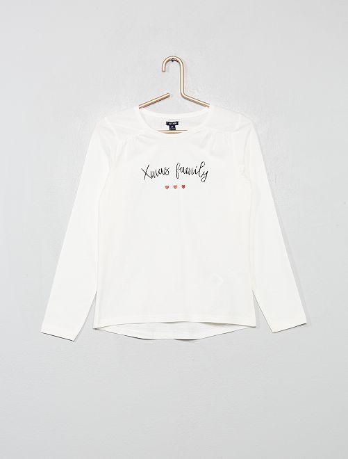 Camiseta de Navidad con mensaje                                         BLANCO