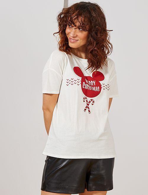 Camiseta de Navidad 'Disney'                                         BLANCO