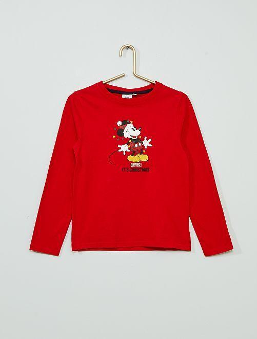 Camiseta de Navidad 'Mickey'                     ROJO